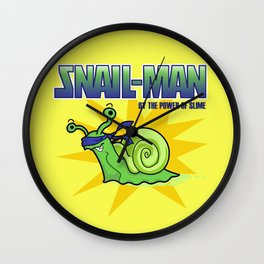 Snail-Man, by the Power of Slime Wall Clock