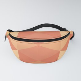 Triangles in Shades of Orange Fanny Pack