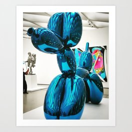 Balloon Dog at The Broad Art Print