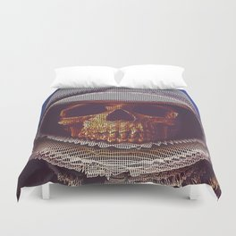 At A Certain Distance In space Or Time Duvet Cover