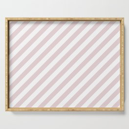 Alice Pink and White Candy Cane Stripes Serving Tray