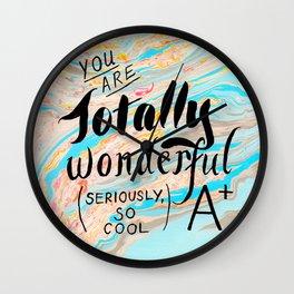 Totally Wonderful A+ Wall Clock