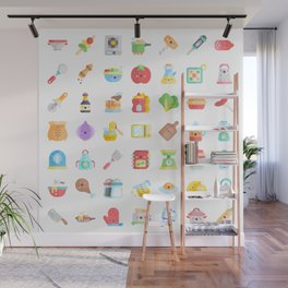 CUTE COOKING PATTERN Wall Mural