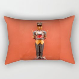 Carved drummer figure decoration Rectangular Pillow