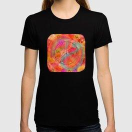 Hippie Chic Paisley Flowers Peace T-shirt