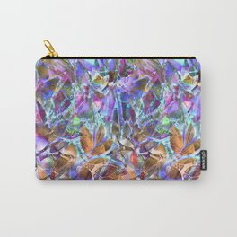 Floral Abstract Stained Glass G268 Carry-All Pouch