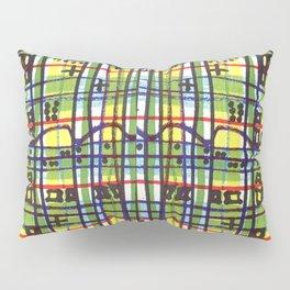 Bizarre Spacy Plaid Pillow Sham