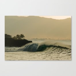 Waimea Bay Sunset Canvas Print