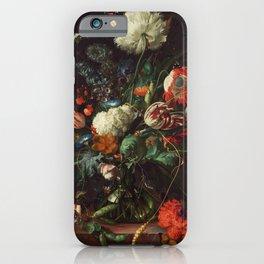 Jan Davidsz de Heem - Vase of Flowers iPhone Case