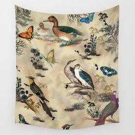 Old Vintage animals n1 print Wall Tapestry