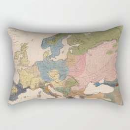 Vintage Anthropological Map of Europe (1861) Rectangular Pillow