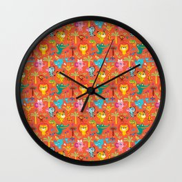 Little Animals Africa Wall Clock