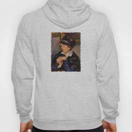 Woman with a Dark Hat Hoody