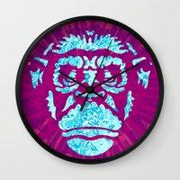 ape Wall Clocks featuring Ape by NewFoundBrand
