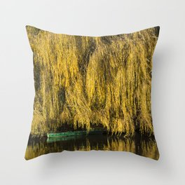 Under the Weeping Willow Throw Pillow