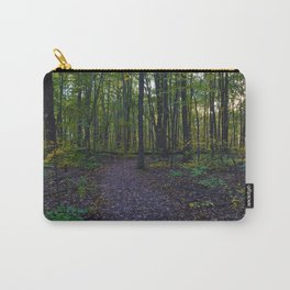Boardwalk through the forest in southern Ontario, CA Carry-All Pouch