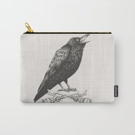 Black Crow & Skull Carry-All Pouch
