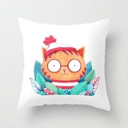Where's Kitty? Throw Pillow