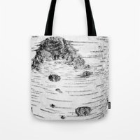 birch Tote Bags featuring BIRCH by Kjellin