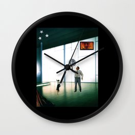 Atlas Watched Over by Zeus Wall Clock