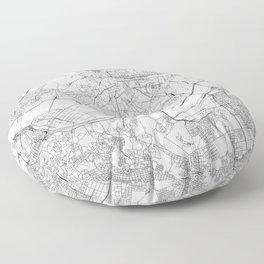 Seoul White Map Floor Pillow