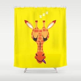 Sleepy Giraffe Shower Curtain