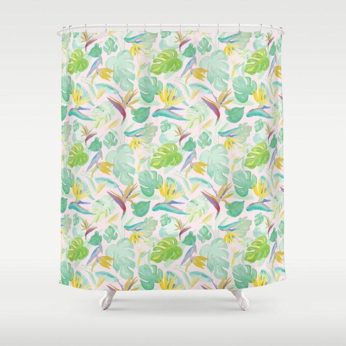 Birds of Paradise Pattern Shower Curtain