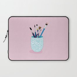 Paintbrushes in a Tea Cup Laptop Sleeve