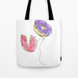 Flat Doughnut Balloon Tote Bag