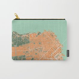 San Francisco city map orange Carry-All Pouch