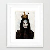 queen Framed Art Prints featuring Queen by Feline Zegers