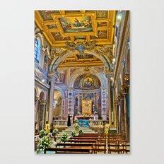 St. Bartholomew on the Island Basilica interior Canvas Print