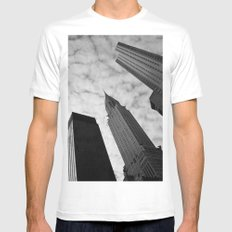 NY clouds Mens Fitted Tee MEDIUM White