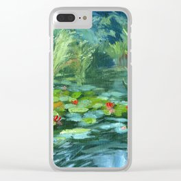 Pink Water Lilies At Lake Tekapo Clear iPhone Case