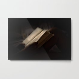 The Reader Metal Print