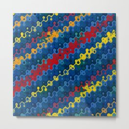 Abstract Rivers of Color Metal Print