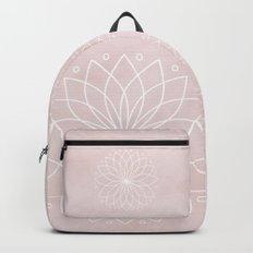 Mandala on Pink Watercolor Background Backpack