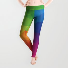 Rainbow Geometric Shapes Leggings