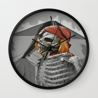 scary Wall Clocks featuring scary by mayrarosito
