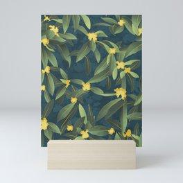 Loquat medlar tree in Autumn I Mini Art Print