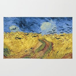Wheatfield with Crows by Vincent van Gogh Rug