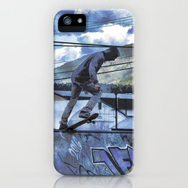 Tipping Point -Skateboarder Launching - Outdoor Sports iPhone Case