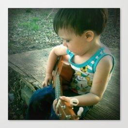Little Music Man Canvas Print