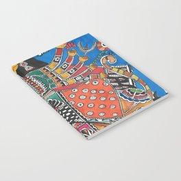 Madhubani - Blue Durga Notebook