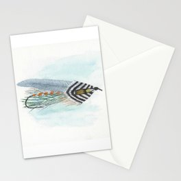 Grey Ghost Streamer Fly Stationery Cards