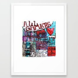 All Gamers Love It Framed Art Print