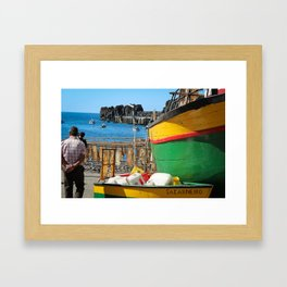 Watching the ships come in... Framed Art Print