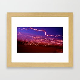 City (Light)s (Graffiti) 9 Framed Art Print