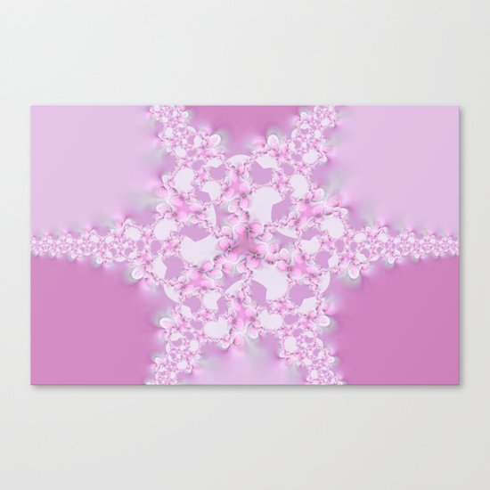 Floral Star  Canvas Print