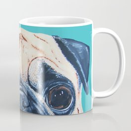 Wide Eyed Pug Coffee Mug